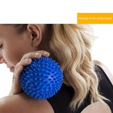 7.5cm Spiky Trigger Point Spiky Massage Ball Roller Soft Reflexology Stress Relief Relieve Pain For Hand Foot Arm Neck Back Body naipo manual massage ball muscle pain stress relief roller massager relaxation fitness stimulator for palm foot arm neck back