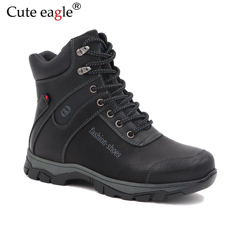 Boys Felt Boots 2018 Winter High PU leather Martin Boots for boys Rubber Anti slip Snow Boots Fashion Zipper Winter Shoes-in Boots from Mother & Kids    1