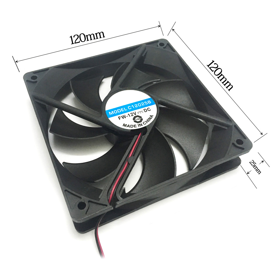 New 120mm 4Pins 12V PC CPU Host Chassis Computer Case IDE Fan Cooling Cooler