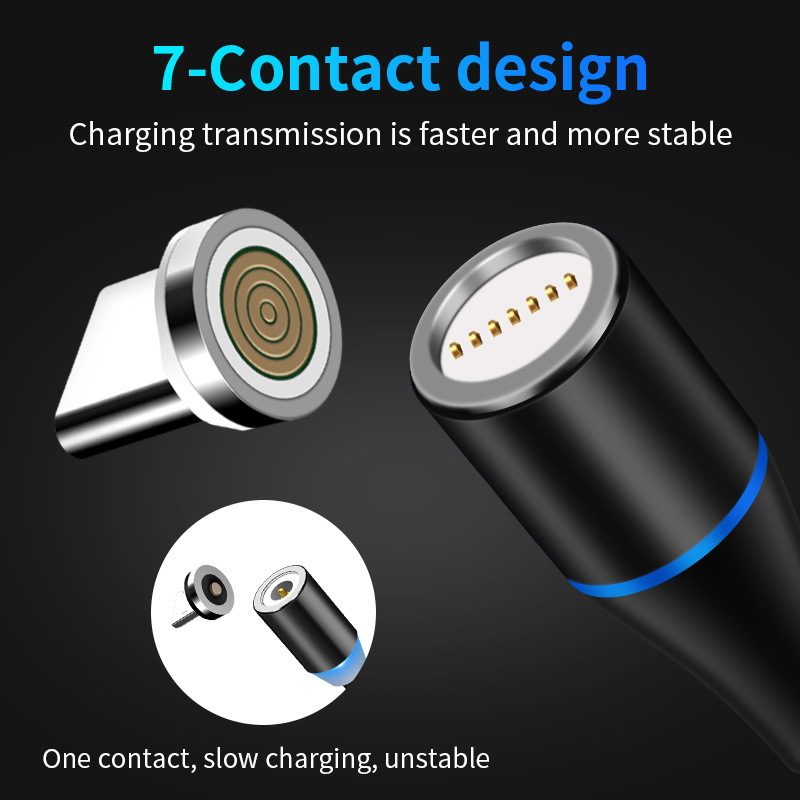New 3A Magnetic Cable For iphone 6 7 8 XS X Micro Usb C Samsung Type Huawei Phone