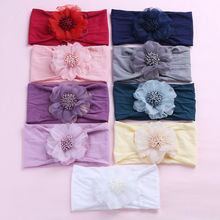 9 Colors Cute Kids Baby Girls Lace Flower Solid Hair Band Headband for Newborn Infant Hair Accessories Fashion Sweet Baby Gifts