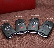 цена на Modified Folding Flip Remote Key Shell For  Mitsubishi Grandis Outlander Car Key Blanks Case