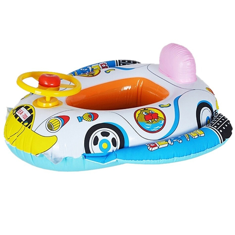 New Baby Float Inflatable Swim Ring Seat Support Pool Float Rubber Car Shaped Swimming Ring Flotadores Para Piscina Life Buoy