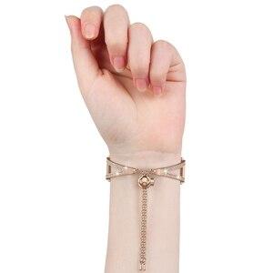 Image 2 - Reloj de 42mm para mujer, pulsera de joyería ostentosa de 20mm, correa de liberación rápida para Samsung Galaxy Watch 42mm/Galaxy Watch Active 40m