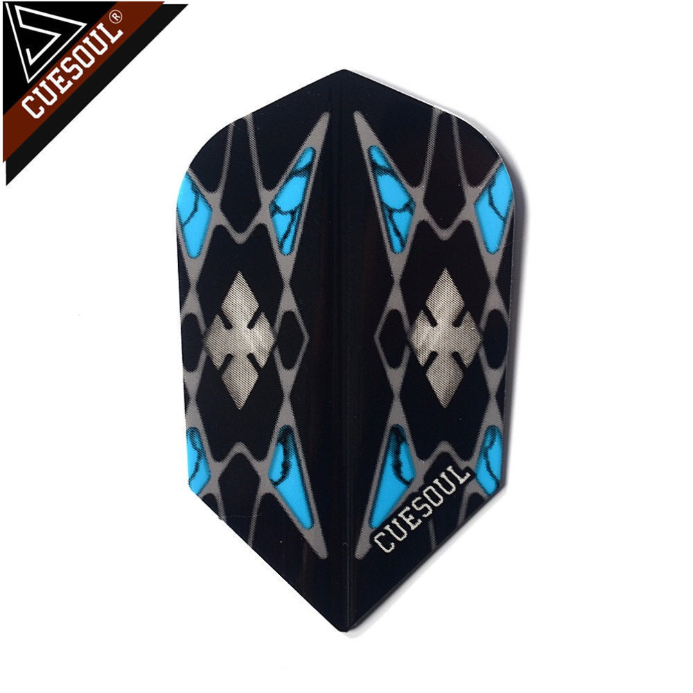 CUESOUL 9pcs Professional Dart Flights Dart Tails Wings Cool Blue Pattern With Very High Quality