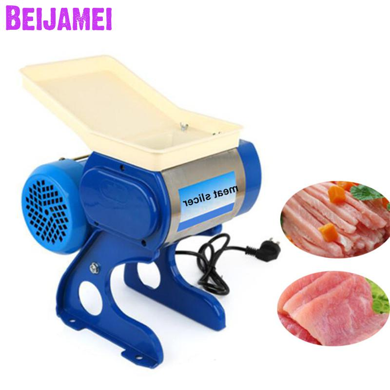 Beijamei Stainless Steel Small Home Blade Meat Slicer Mincer Electric Commercial Meat Grinder Cutting Machine