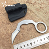 KKWOLF High Quality Karambit Knife Mini Seel Claw Military Tactical Survival Knife D2 Blade Combat Hunting