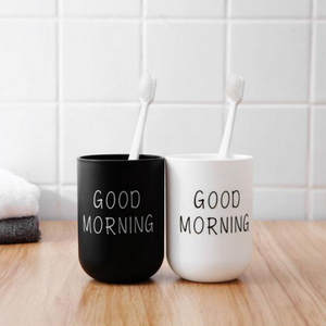 Cup Toothbrush-Cup Couple Good-Morning Bathroom 1PC And Circular-Cup Plain High-Quality
