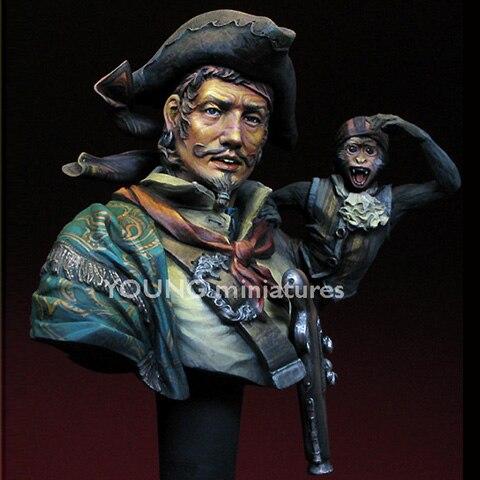 Модель Crazy King 1/10 из смолы, модель бюста, модель фильма, история персонажей, Пиратская модель GK, белая модель Hand X107
