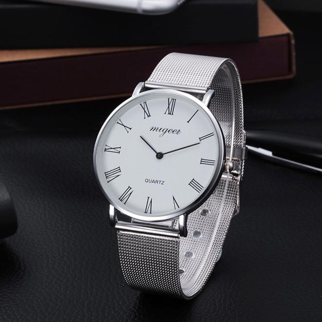 Milky  Fashion Women Crystal Stainless Steel Analog Quartz Wrist Watch Bracelet Relojes  DEC30 stylish 8 led blue light digit stainless steel bracelet wrist watch black 1 cr2016