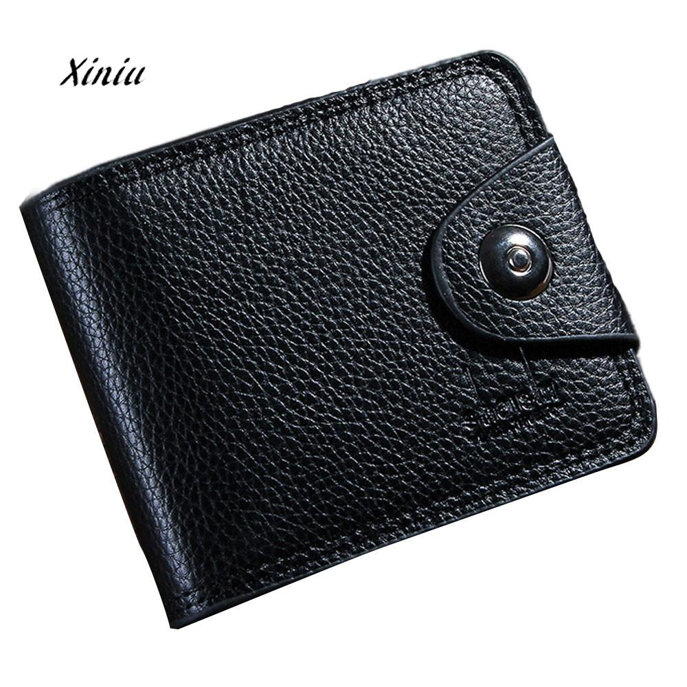 New Fashion Business Mens Wallets Hasp Leather ID Card Holder Billfold Purse Wallet Handbag Brand Designer Card Package Purse