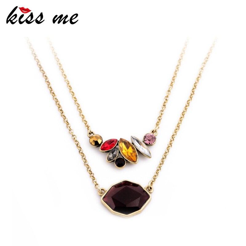 KISS ME Office Dámy Oblíbené Elegantní klíčenka náhrdelník - Bižuterie