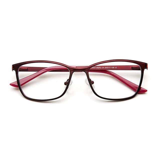 48a79bbf803b2 Stylish Metal Female Women Cat Eye Optical Eyeglasses Frame Cateye Red  Vintage Eye Glasses Frames for
