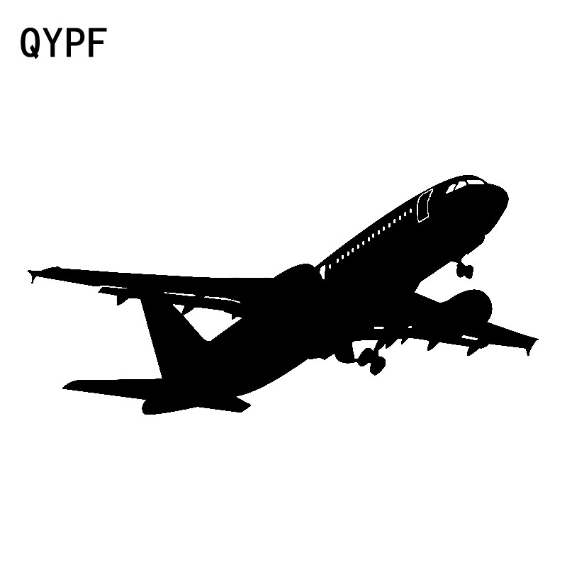 QYPF 18cm*8.5cm Extraordinary Bright Flight Plane Is About To Take Off Vinyl Car Sticker Decal Clear New Tide Pattern C18-0724