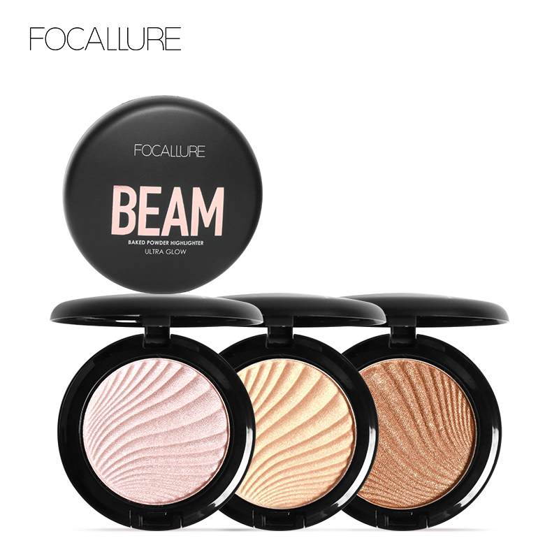 FOCALLURE New 4 Colors Ultra Glow Beam Highlighter Palette Powder Makeup Highlighter Contour Palette Силиконы