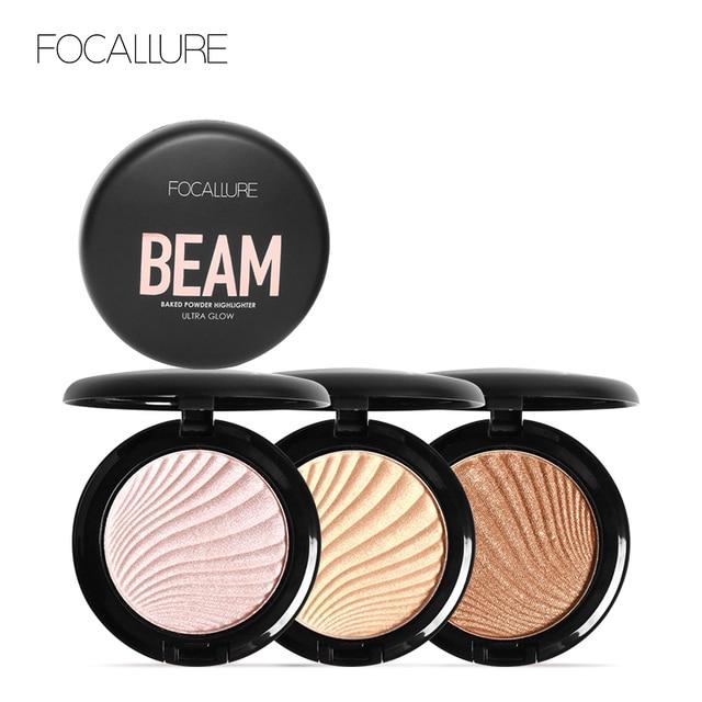 FOCALLURE New 4 Colors Ultra Glow Beam Highlighter Palette Powder Makeup Highlighter Contour Palette