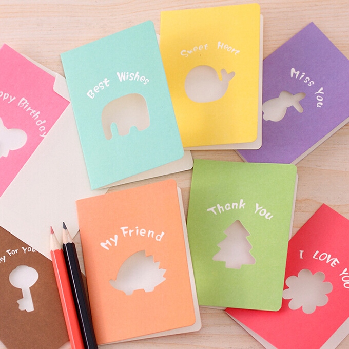 1 Piece Candy Blessing Envelope Valentine Wedding Invitations Mariage Birthday Thank You Gift Party Greeting Cards