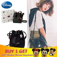 Disney Mickey Mouse Bags PU Houlder Bag Gift Large Capacity Women Classic Handbag Fashion Travel Storage girl Plush Backpack