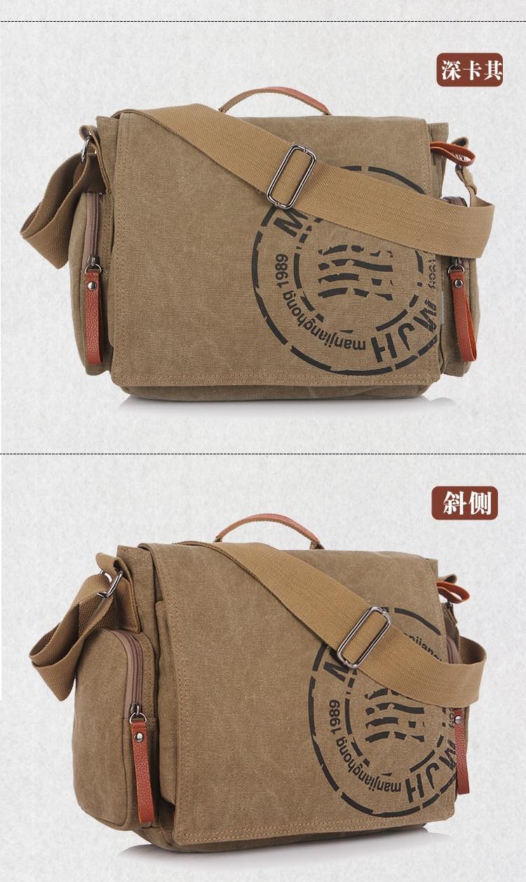 4a55a1db7a9f Sky fantasy brand canvas men s cross body messenger bag with ...
