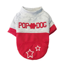 Hellomoon  Cat Dog Clothes Puppy Autumn and Winter Color Matching T-shirt