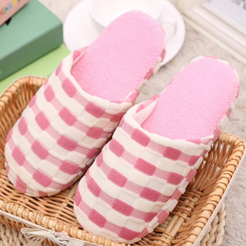 Hot Sale Couples Women Slippers Fashion Autumn Winter Plush Slippers Indoor Floor Shoes Faux Fur Slides lattice Flat Shoes *829 fongimic comfortable women slippers women casual indoor plush shoes autumn winter warm fashion slippers hot sale flat slippers