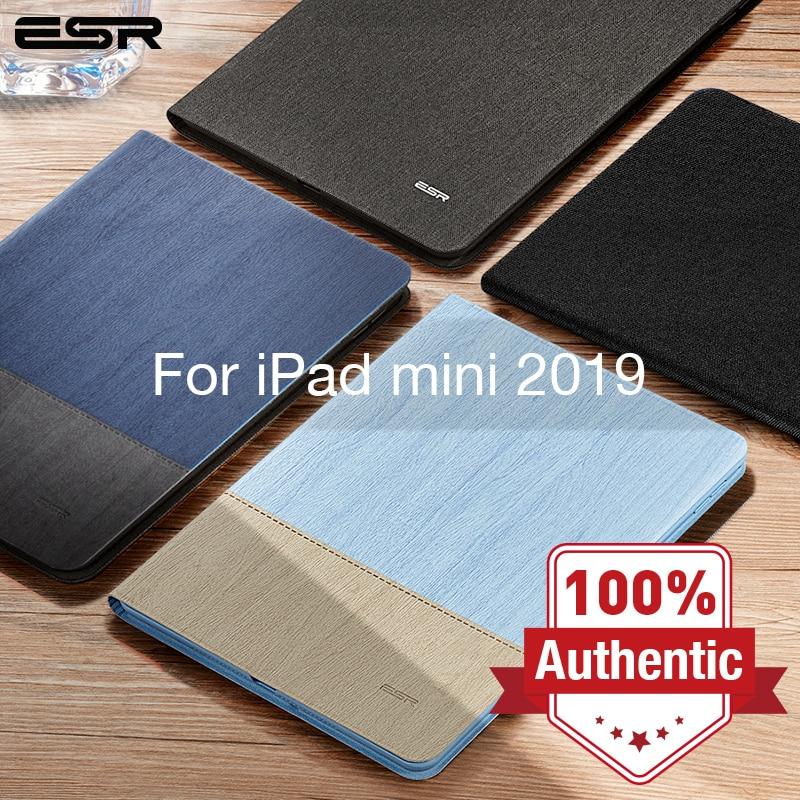 ESR Case For IPad Mini 5 2019 Oxford Cloth PU Leather Smart Book Cover Auto Sleep/Wake