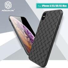 Nillkin Sintetica fibra di Carbonio PP di Plastica Della Copertura Posteriore per il iphone X/Xs/Xs Max/Xr della copertura della cassa ultra sottile per iPhone 5.8 /6.5/6.1