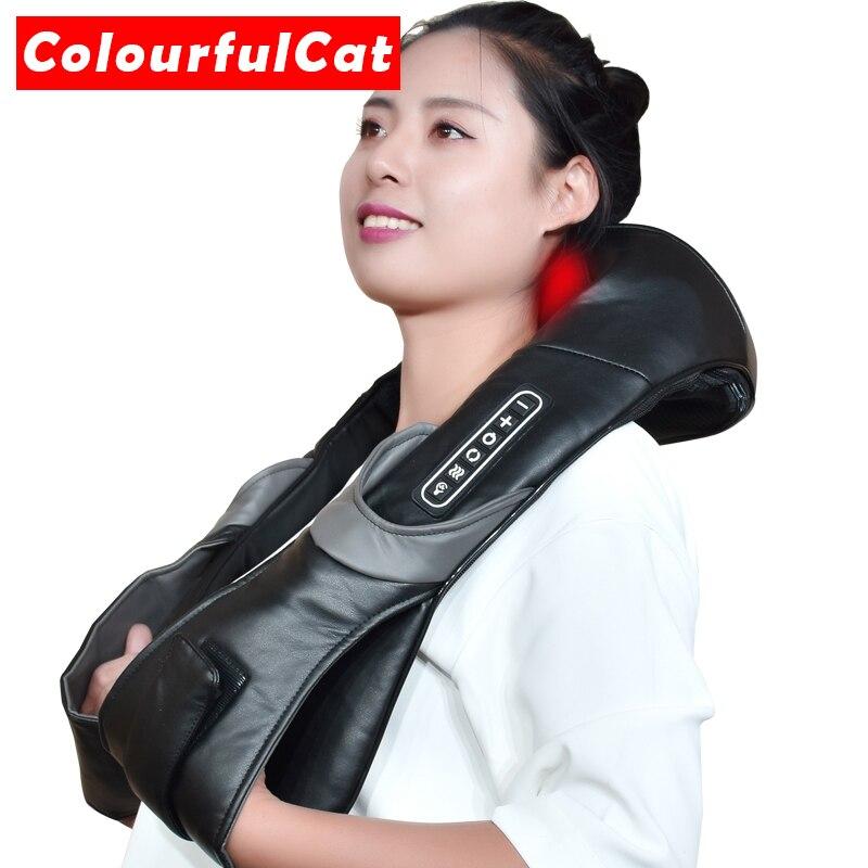Pescoço Massagem Shiatsu Massageador Elétrico para o Corpo de Volta Shouder Masajeador Relaxer Do Carro Rolo Massageador de Cuidados de Saúde