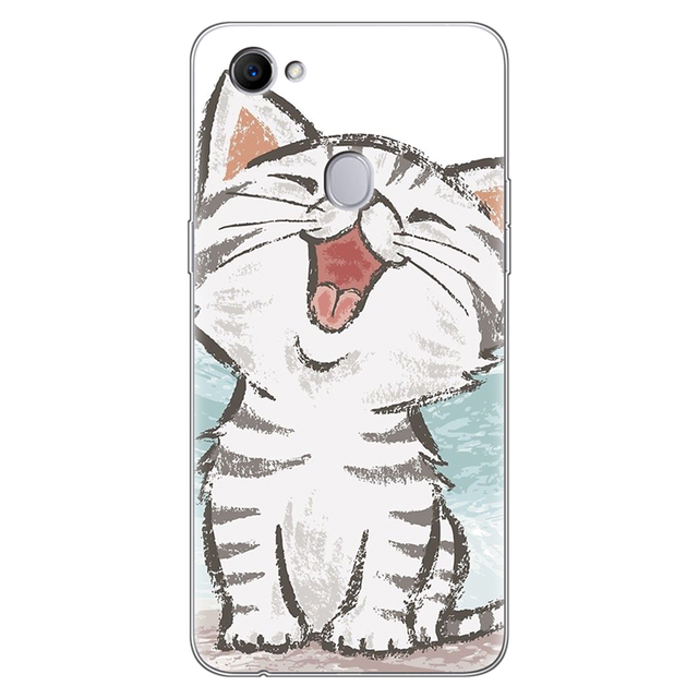 Cartoon Cat Cute Clear Animal Phone Case For OPPO F7 Case Silicone 6.23 3