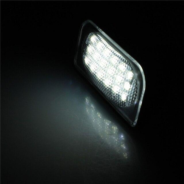 1 пара Белый 18 LED 3528 SMD Номерного Знака Лампы Лампы для BENZ W203 4D Седан