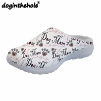 doginthehole Women Sea Shoes Sport Sandals Dog Bone Paw Printing Sport Slipper Outdoor Breathable Mesh Flats Beach Shoes Summer