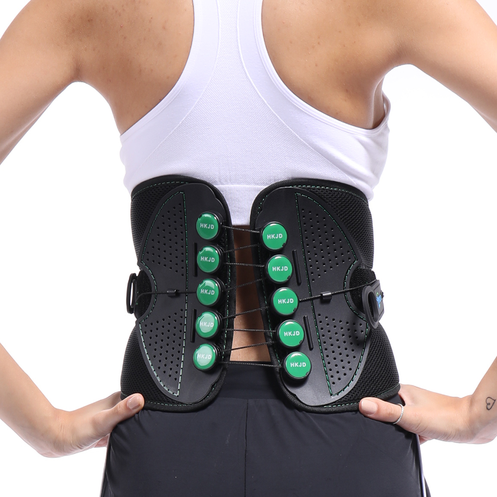 Medical Back Brace Waist Spine Men Women Belts Breathable Lumbar Corset with Pulley System