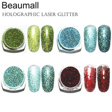 2g/pot ,0.2mm (1/128 008) Holographic Glitter Laser Powders Chrome Pigments Glitters Dusts For Nail, Tattoo Art,Make Up.(China)