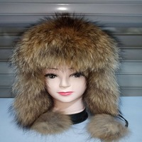 Winter female fur hat pure natural fox fur earmuffs suede warm hat fur Lei Feng