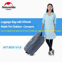 Naturehike Outdoor Traveling Camping Luggage Large Capacity Storage Bag With Wheels Convenient And Sturdy For Men And Women