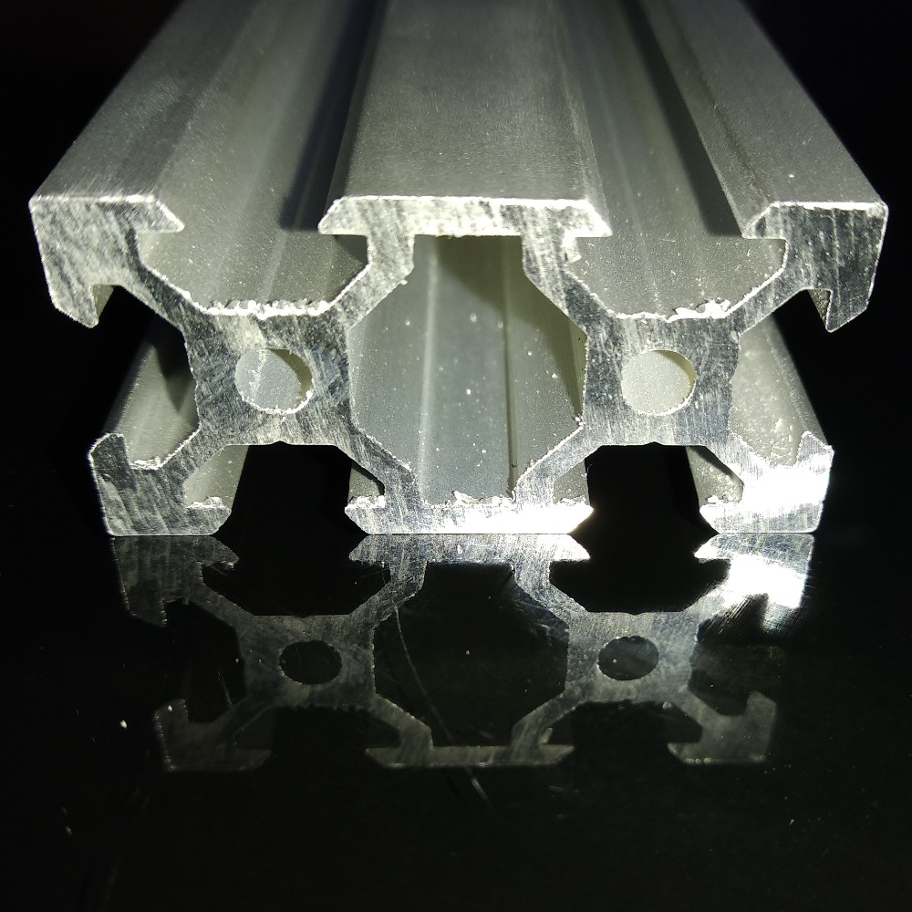 Industrial CNC 3D Print Machine Workbench Linear Rail Aluminum Profile Extrusion <font><b>V</b></font> <font><b>slot</b></font> <font><b>2040</b></font> series silver colour image