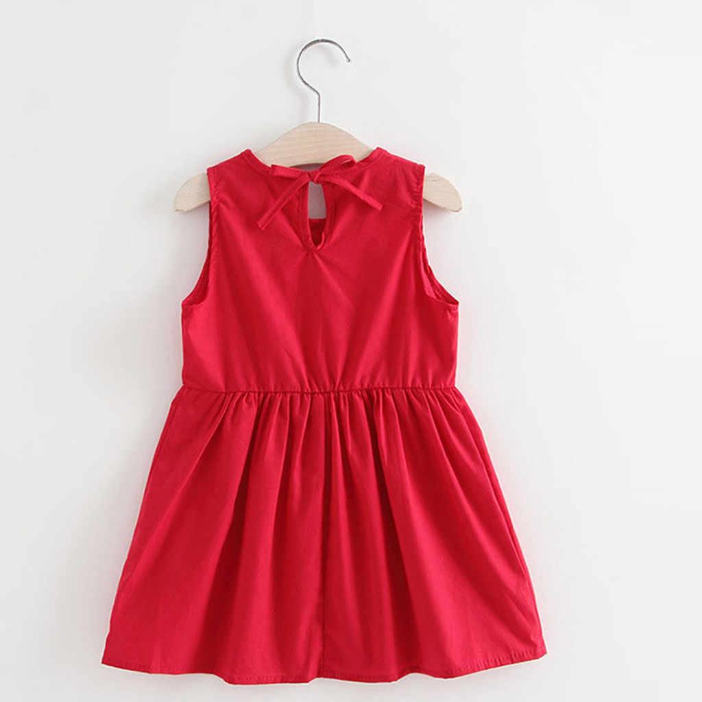 MUQGEW/платье для маленьких девочек, однотонное повседневное праздничное платье принцессы с цветочным рисунком для девочек, лето 2019, пляжная одежда, сарафан, одежда