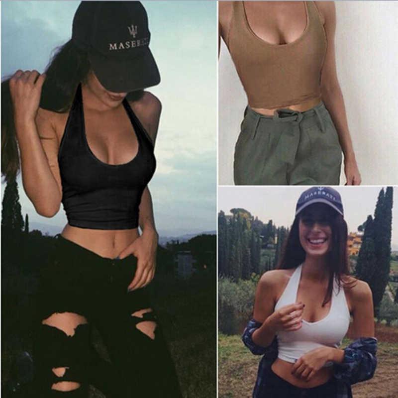 פשוט סקסי מקרית Slim ללא שרוולים טנק חולצות מוצק צבע יבול למעלה לנשים כושר אפוד נשים בגדים למעלה גב פתוח וטבור