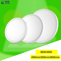 Intergrated LED Big Panel Light 36W 48W 400mm 500mm 600mm Round Conceal Surface Downlight Ultrathin SMD 2835 Ceiling Lamp AC220V
