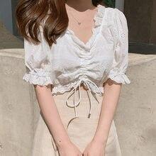BOBOKATEER — Chemisier blanc, blouse, haut grande taille pour femme, chemises et tuniques pour dame, été 2020