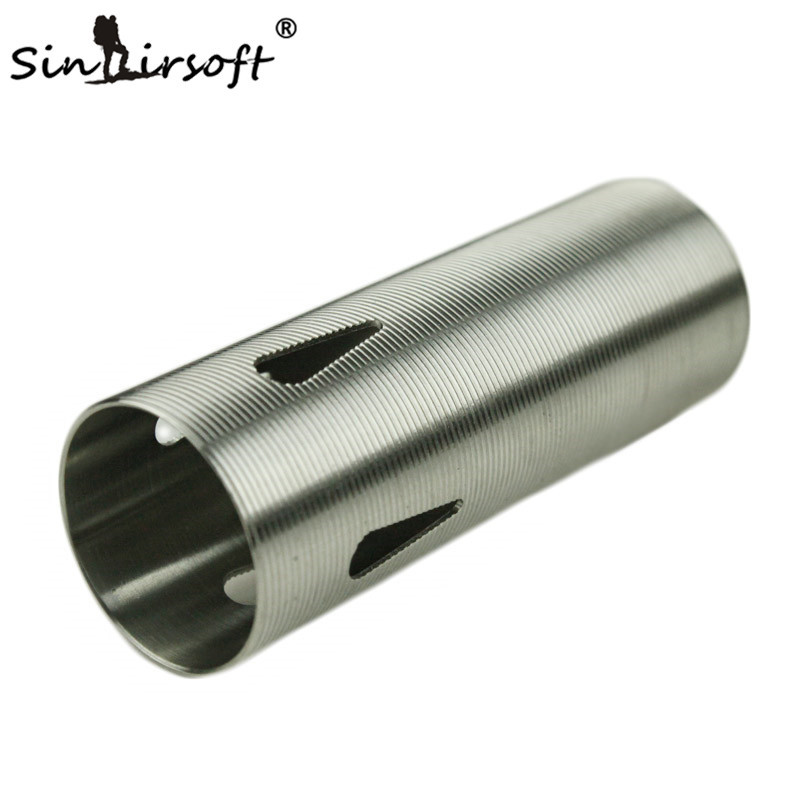 SINAIRSOFT Horizotal Thread Stainless Steel Cylinder Type-4 For Airsoft AEG Gearbox Smooth Inner Paintball Shooting