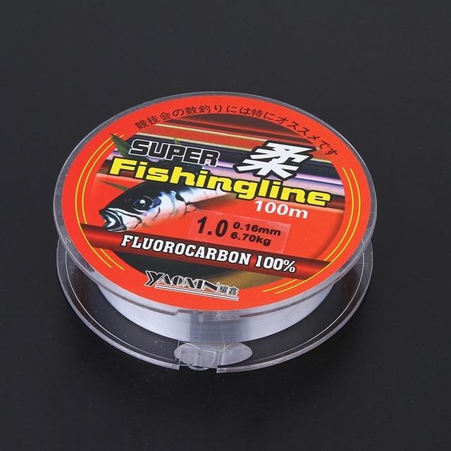 Non Transparent Nylon fluorocarbone ligne de pêche marque Super forte 100 m matériel de pêche Non-lin Multifilament de haute qualité