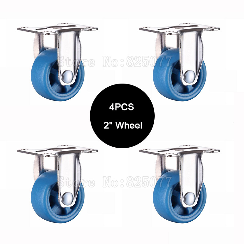 Supply 4pcs Mute Directional Wheel Size 2.0inch/50mm Lightweight Casters Bear 35kg/pcs,for Bookcase Drawer Flower Racks Jf1580 Elegant Appearance Home Improvement Hardware