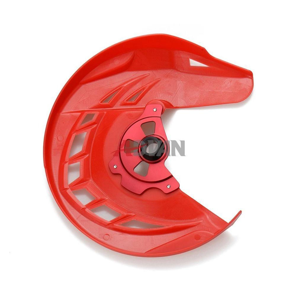 Red Front Brake Disc Guard Protector Cover For Honda CRF 250 450 R/X 2004-2016, For CR 125R 250R 2004-2007 for honda crf 250r 450r 2004 2006 crf 250x 450x 2004 2015 red motorcycle dirt bike off road cnc pivot brake clutch lever