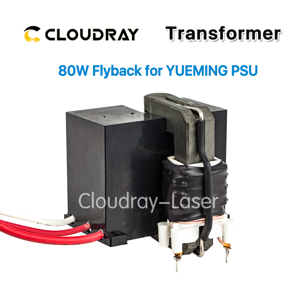 Cloudray High Voltage Flyback Transformer for YUEMING Co2 Laser Power Supply JG1500 JCY-1500 high voltage flyback transformer for reci dy13 co2 laser power supply