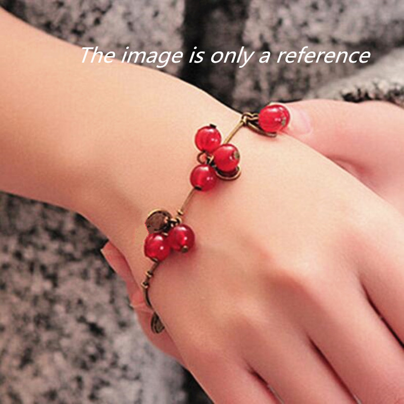 2020 HOT Sale 220mm+50mm bangles jewelry store vintage sweet cherry crystal bracelets Cheap Price Wholesale 1