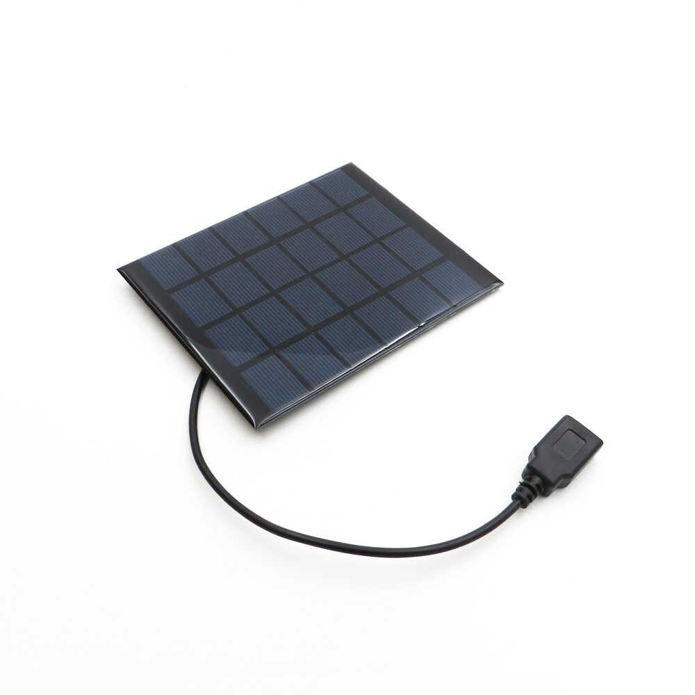 ソーラーパネル 2 ワット 6 12V 太陽電池 DIY モジュールソーラーポータブル充電器 USB 5V 出力携帯電話電源銀行屋外充電器