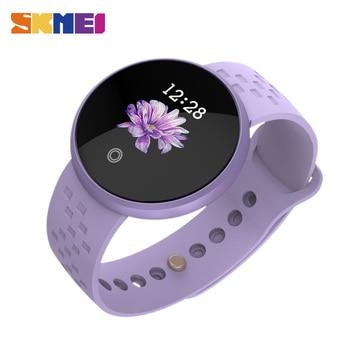 SKMEI mujeres inteligente reloj de ritmo cardíaco femenino período  recordatorio Smartwatch pulsera Relojes deportivos reloj inteligente reloj  B36 b2fd772bc476
