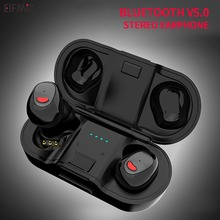 Wholesale ELFMIC TWS Wireless Bluetooth 5.0 Earbuds Earphone Mini Stereo Headsets Noise Canceling with Charger Sports Head-phone