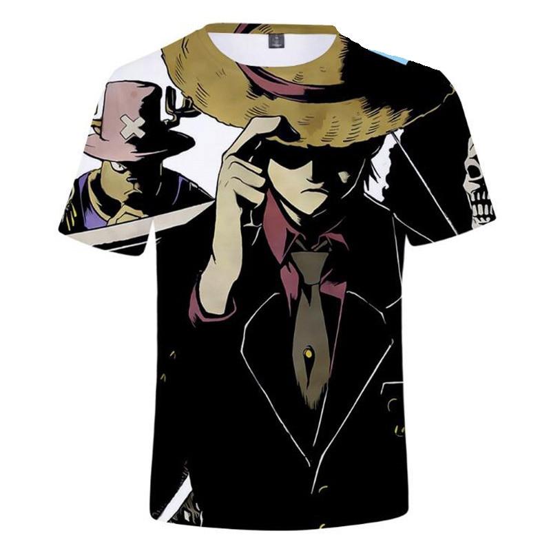 Mens Fashion 2019 Anime 3D T Shirt Men Cartoon One Piece Print T-Shirt Homme Harajuku Streetwear Male Tshirt Kids Boys Clothes